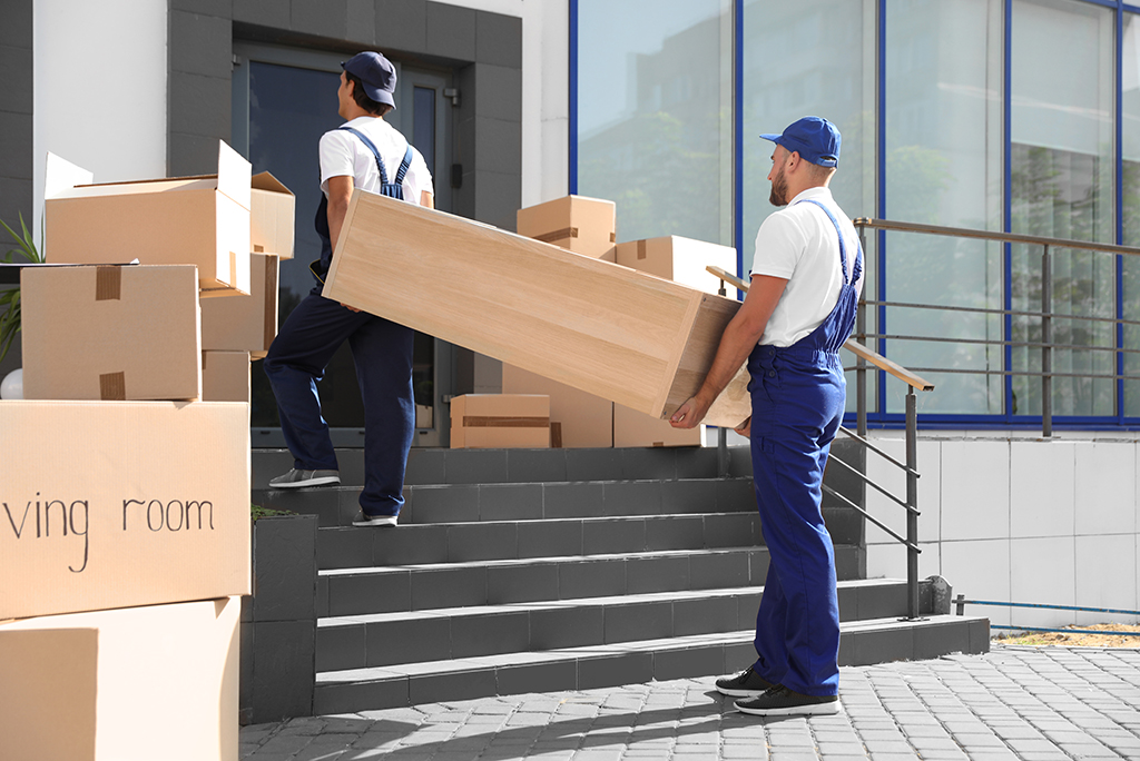 movers boxes stairs