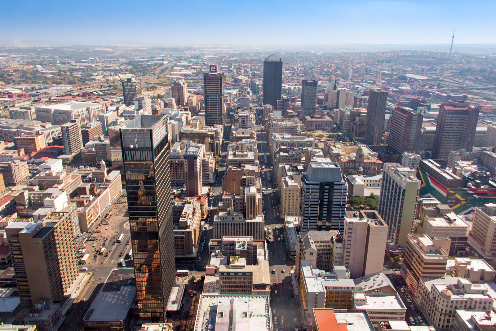view central business district Johannesburg South Africa